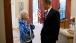 President Barack Obama Talks With Betty White