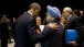 President Barack Obama Talks With President Manmohan Singh Of India