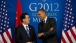 President Barack Obama Talks With President Hu Jintao Of China