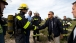 President Obama Shakes Hands with Fire Fighters on Robben Island