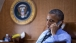 President Obama Talks on the Phone Aboard Air Force One with President Poroshenko