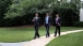 President Obama Walks with Chief of Staff Jack Lew and Senior Advisor David Plouffe