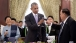 President Obama and President Vorachith toast