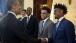 President Obama talks with Duke players