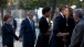 President Barack Obama Greets Guest At The National September 11 Memorial