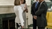 The President and First Lady greet King Felipe VI and Queen Letizia
