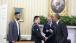 President Obama meets three American heroes