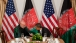 President Barack Obama Talks with Afghan President Hamid Karzai