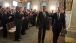 President Obama and Attorney General Holder Depart the State Dining Room