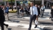 President Obama Walks Across 17th and Penn, After Grabbing Lunch