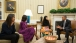 President Obama, the First Lady, and their daughter Malia meet with Malala Yousafzai
