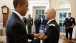 President Obama With White House Military Aide LTC Barrett Bernard