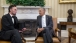 "The President visits with Abraham Lincoln interpreter Richard ""Fritz"" Klein"