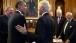 President Obama Greets Former President Clinton 102913