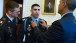 President Obama adjusts the Medal of Honor on Captain Groberg