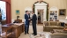 President Obama and Former Massachusetts Gov. Romney Talk in the Oval Office