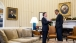 President Obama talks with President Juan Manuel Santos of Colombia