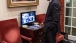 President Obama Watches Coverage Of Nelson Mandela