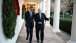 President Obama and President Rivlin of Israel Walk on the Colonnade