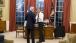 President Barack Obama Greets Secretary of State John Kerry