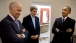 President Barack Obama Talks with Vice President Joe Biden and Secretary of State John Kerry