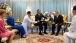 President Obama presents a gift to King Bhumibol Adulyadej of Thailand