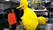 First Lady Michelle Obama with Big Bird at the White House Kitchen