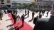 Vice President Joe Biden and Dr. Jill Biden walk down the red carpet