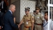 Vice President Joe Biden stops to shake hands with Indian Police