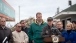 Vice President Joe Biden gives remarks after touring the damaged boardwalk