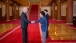 Vice President Joe Biden shakes hands with President Park Geun-Hye