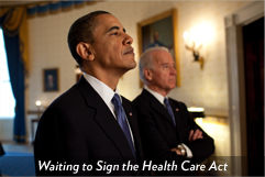Waiting to Sign the Health Care Act