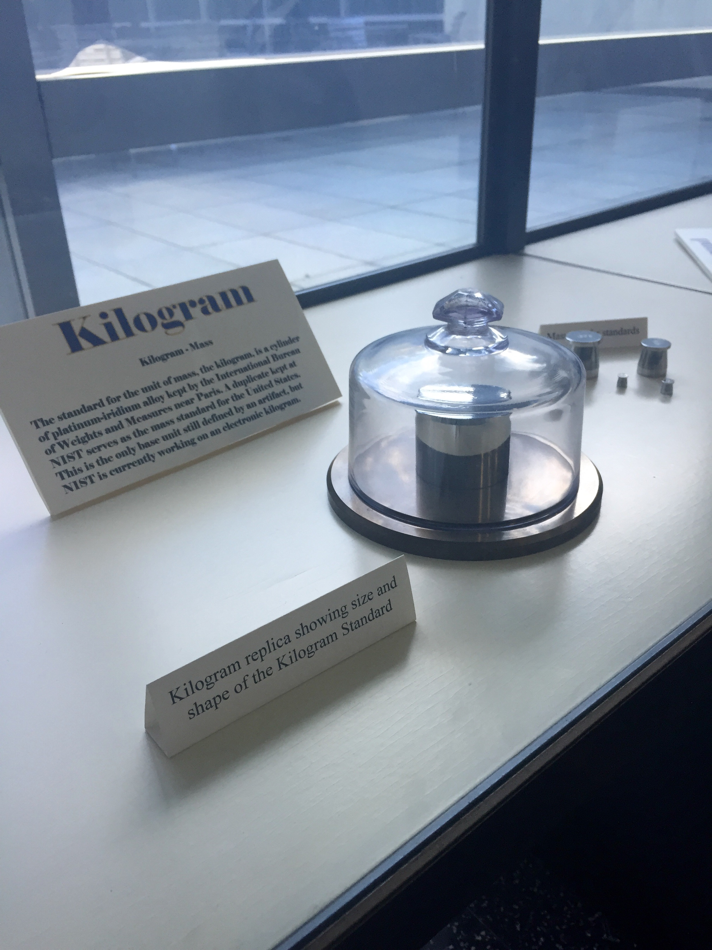 Replica of the International Prototype of the Kilogram.