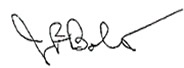 Signature of Joshua B. Bolten