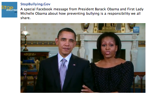 President Obama and the First Lady discuss bullying in this video