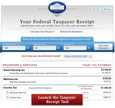 online tax receipt the white house