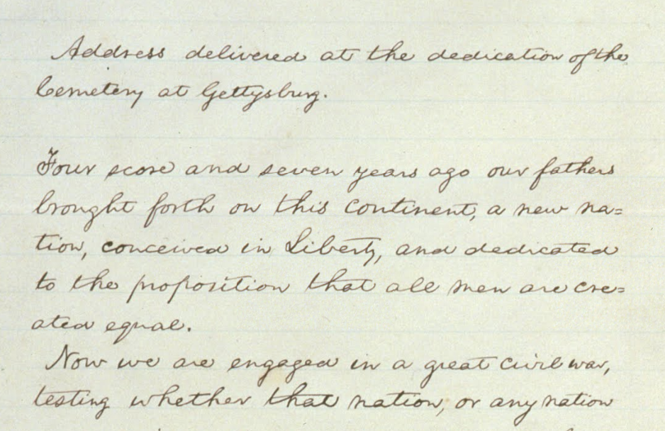 President Obamas Handwritten Essay Marking The Th Anniversary Of  President Obamas Handwritten Essay Marking The Th Anniversary Of The  Gettysburg Address