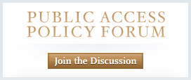 Join the Discussion on the Public Access Policy Forum