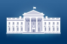 Placeholder image featuring an illustration of the White House