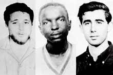 James Chaney, Andrew Goodman, and Michael Schwerner (posthumous)