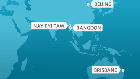 President Obama travels to Beijing, China, Nay Pyi Taw and Rangoon, Burma, and B
