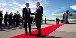 President Obama Sweden Arrival
