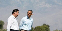 President Obama with President Xi Jinping of China