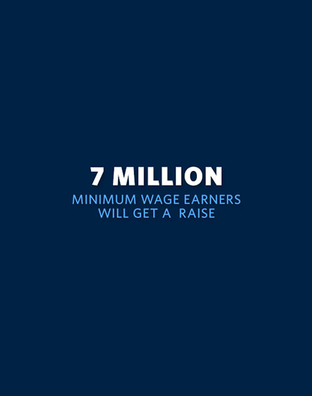 7 Million Minimum Wage Earners Will Get a Raise