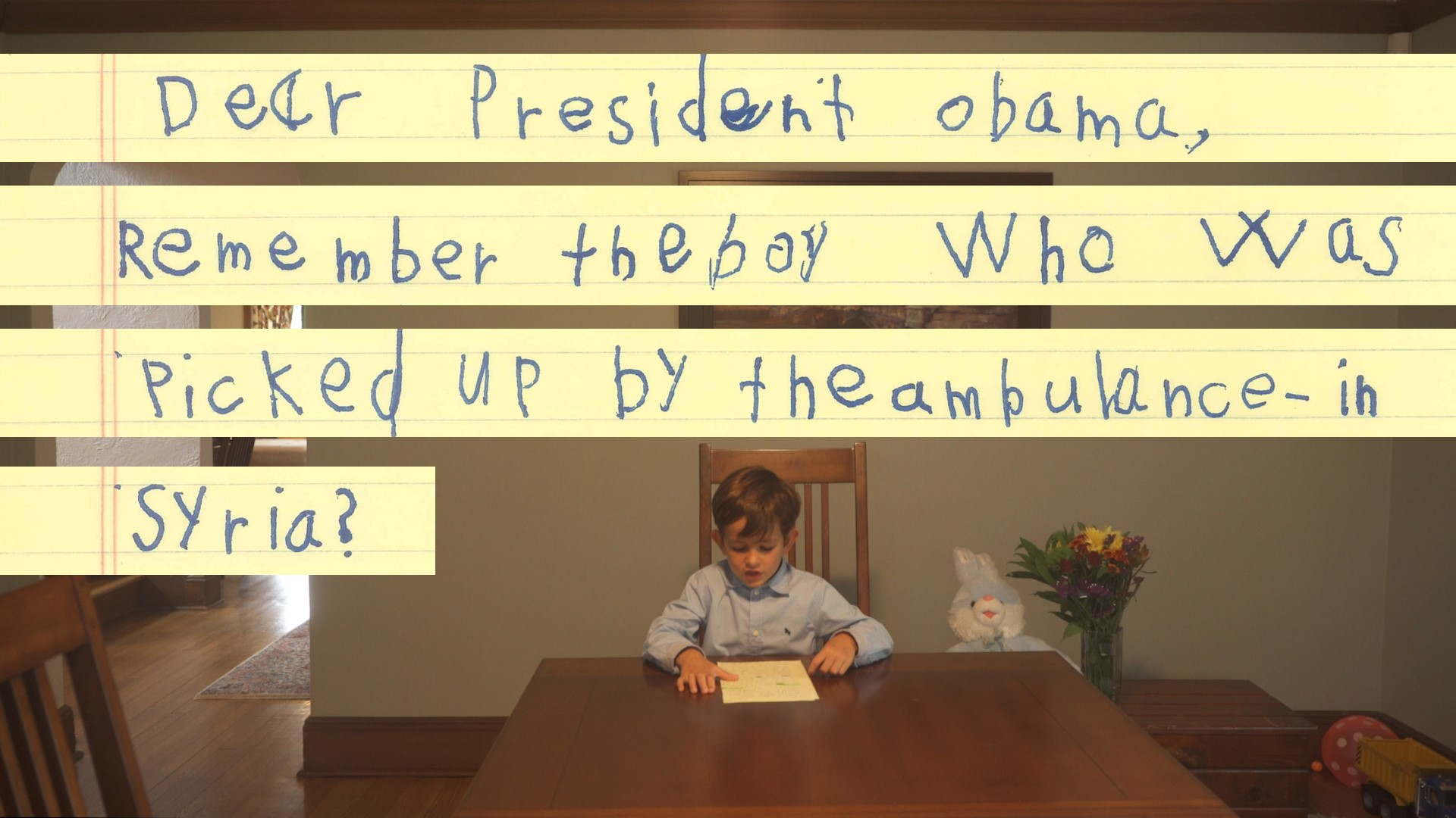 "A Six-Year-Old's Letter to the President: ""We Will Give Him a Family"""