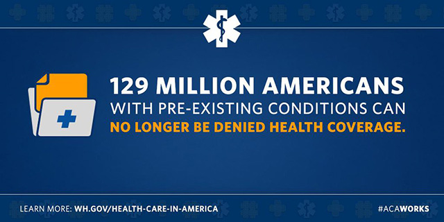 129 Million Americans with Pre-Existing Conditions Can No Longer Be Denied Health Coverage