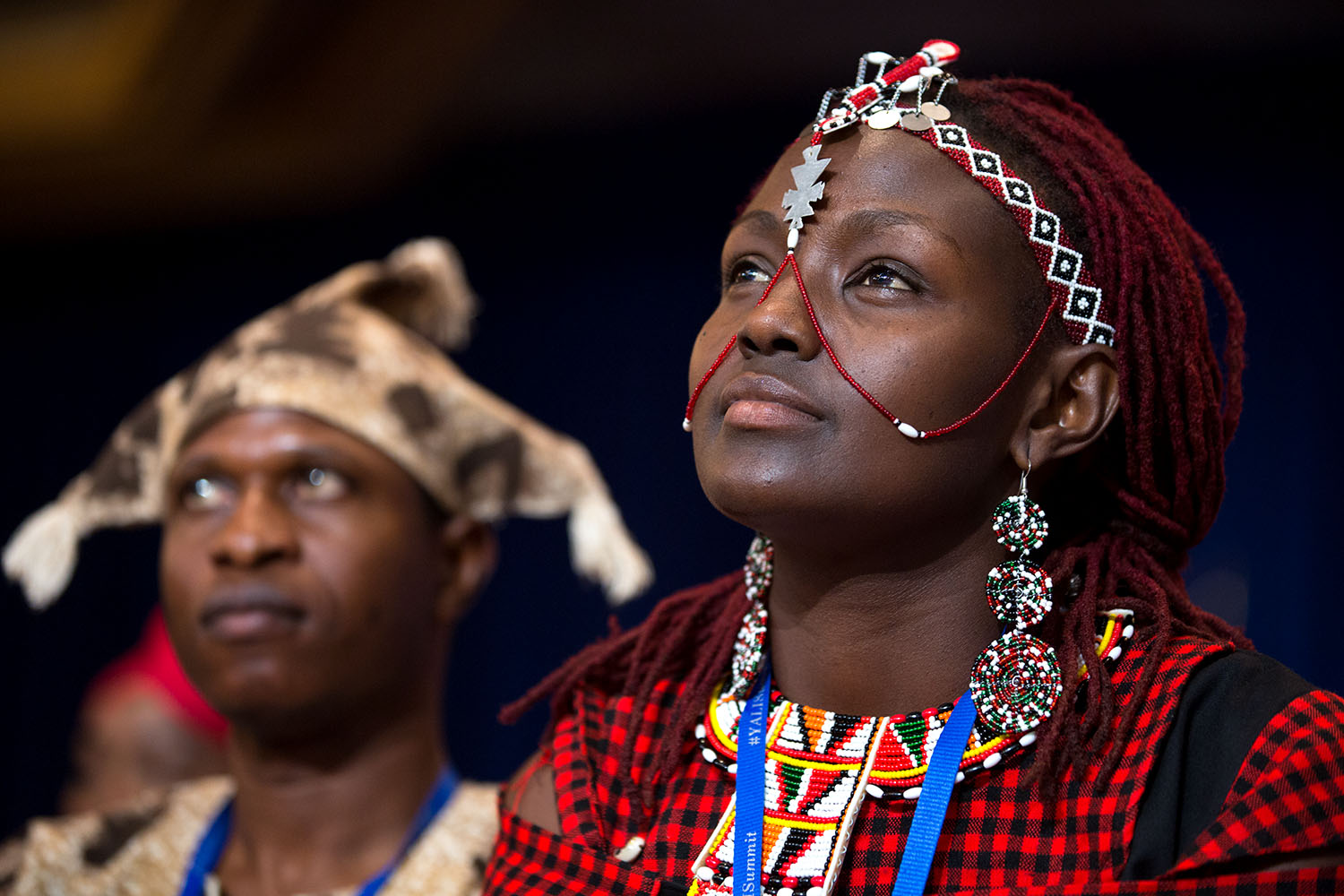 Josephine Kulea (Kenya) and audience members listen as President Barack Obama delivers remarks during a Young African Leaders Initiative (YALI) town hall in Washington, D.C., July 28, 2014. (Official White House Photo by Pete Souza)