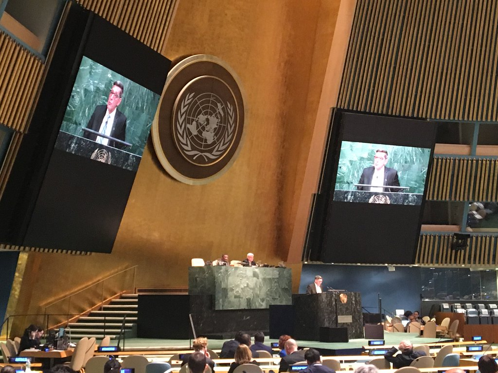 Director Botticelli addresses the UN General Assembly Special Session on the World Drug Problem
