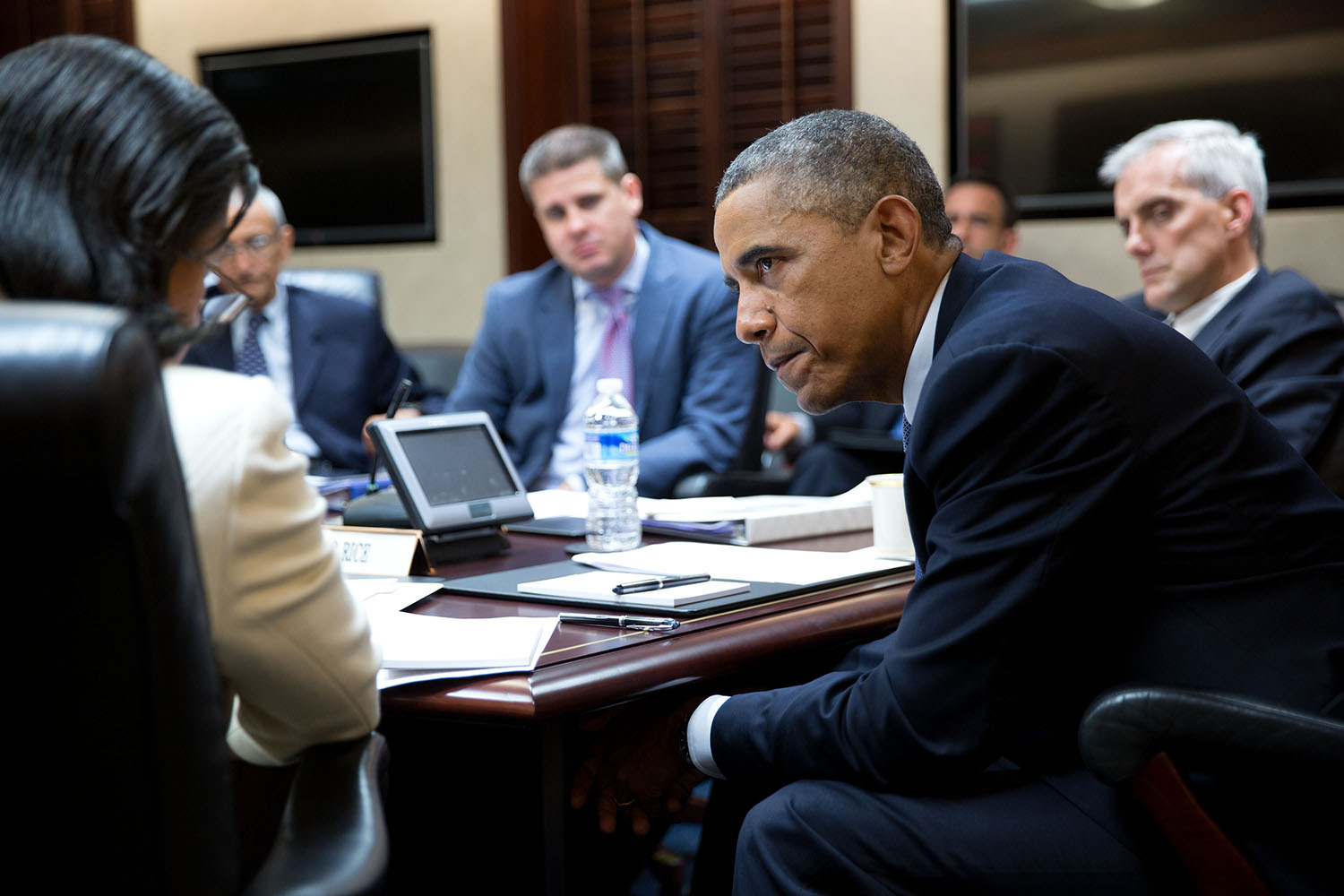 President Obama and Ambassador Susan Rice in the Situation Room