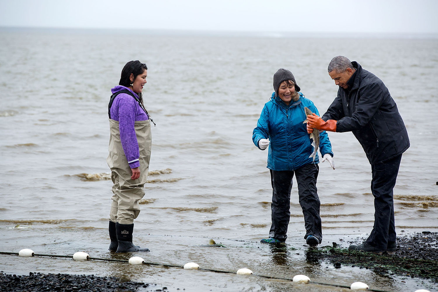 President Obama in Bristol Bay, Alaska.